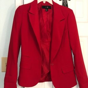 ❤️LIKE NEW!❤️ Pre-loved Forever 21 red blazer